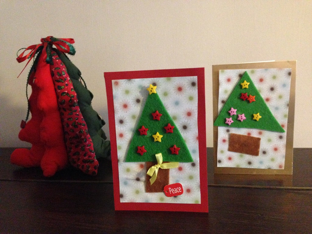 Various decorative Christmas cards