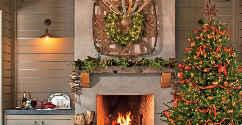 outside area cheerful Christmas decorative touch