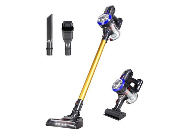 Dibea D18 Lightweight Cordless Stick Vacuum Cleaner, 9000pa Bagless Rechargeable 2 in 1 Handheld, Gold