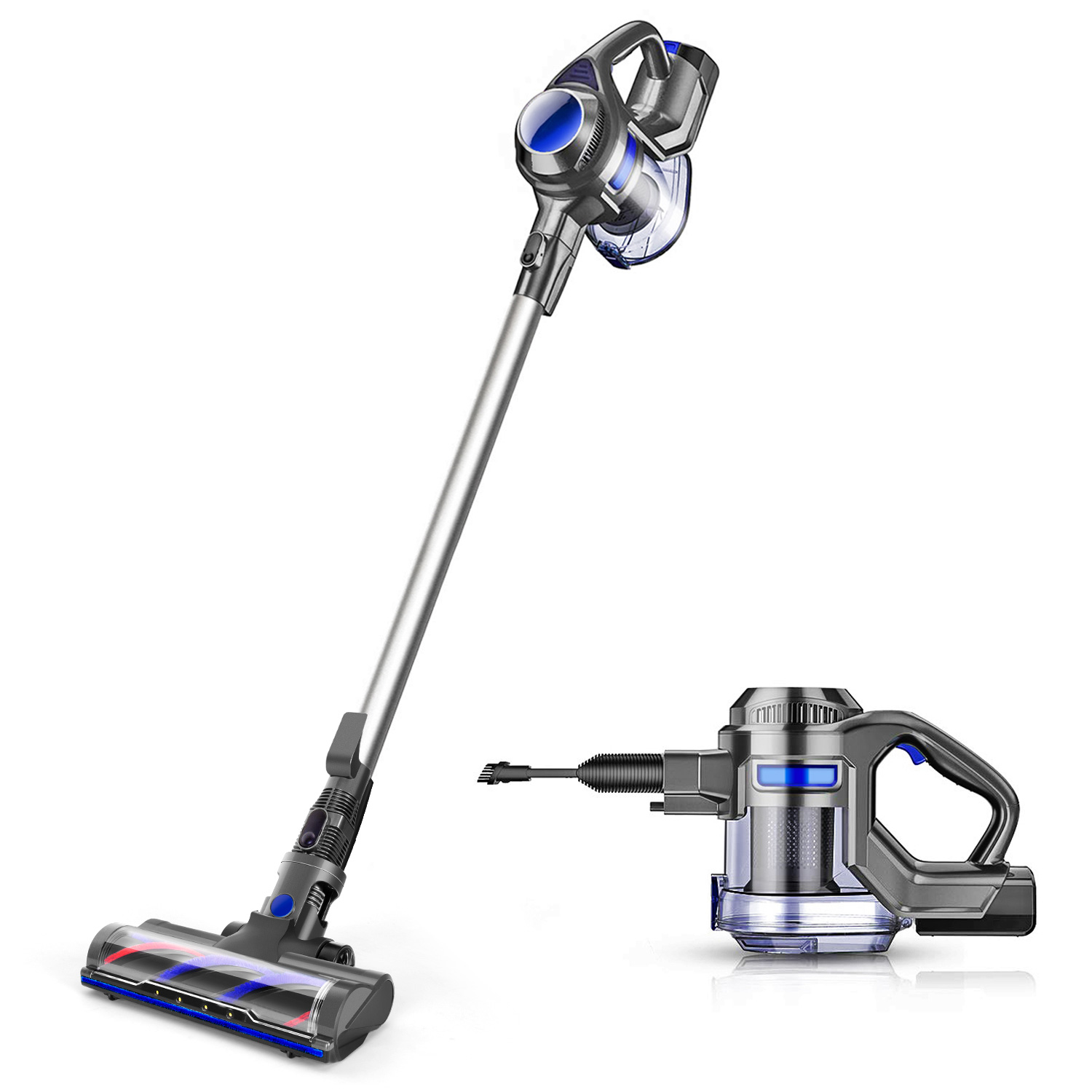 MOOSOO Cordless Vacuum 4-in-1 Lightweight Stick Vacuum Cleaner, XL-618A