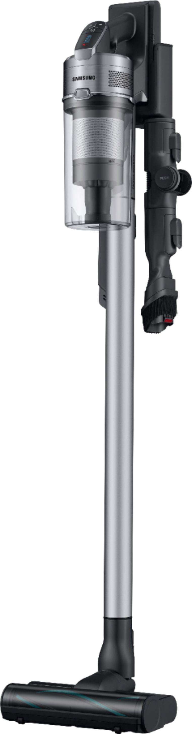 Samsung - Jet™ 75 Complete Cordless Stick Vacuum - Titan ChroMetal with Teal Silver filter